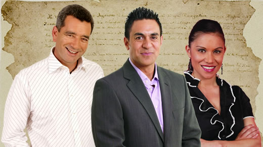 Tainui Stephans, Julian Wilcox, Stacey Morrison