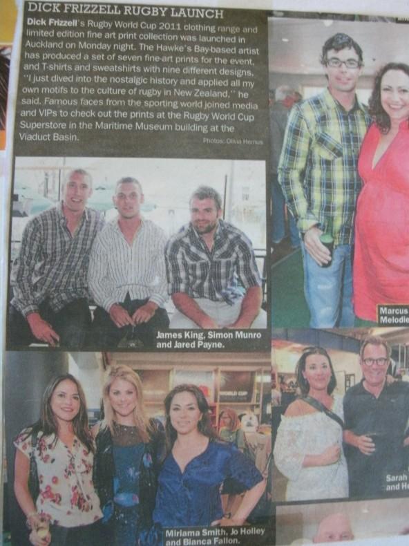 Dick Frizzel Launch Bianca, Jo, Miriama Bianca wears Andrea Moore