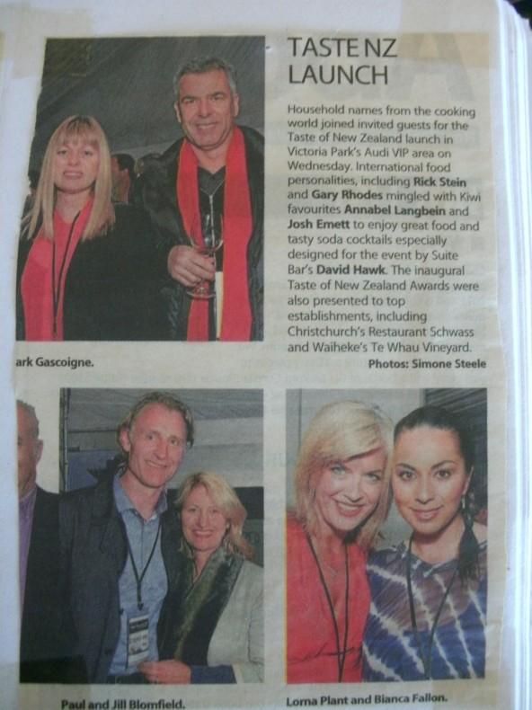 Taste NZ Launch Lorna Plant & Bianca Bianca wears Loobie Story