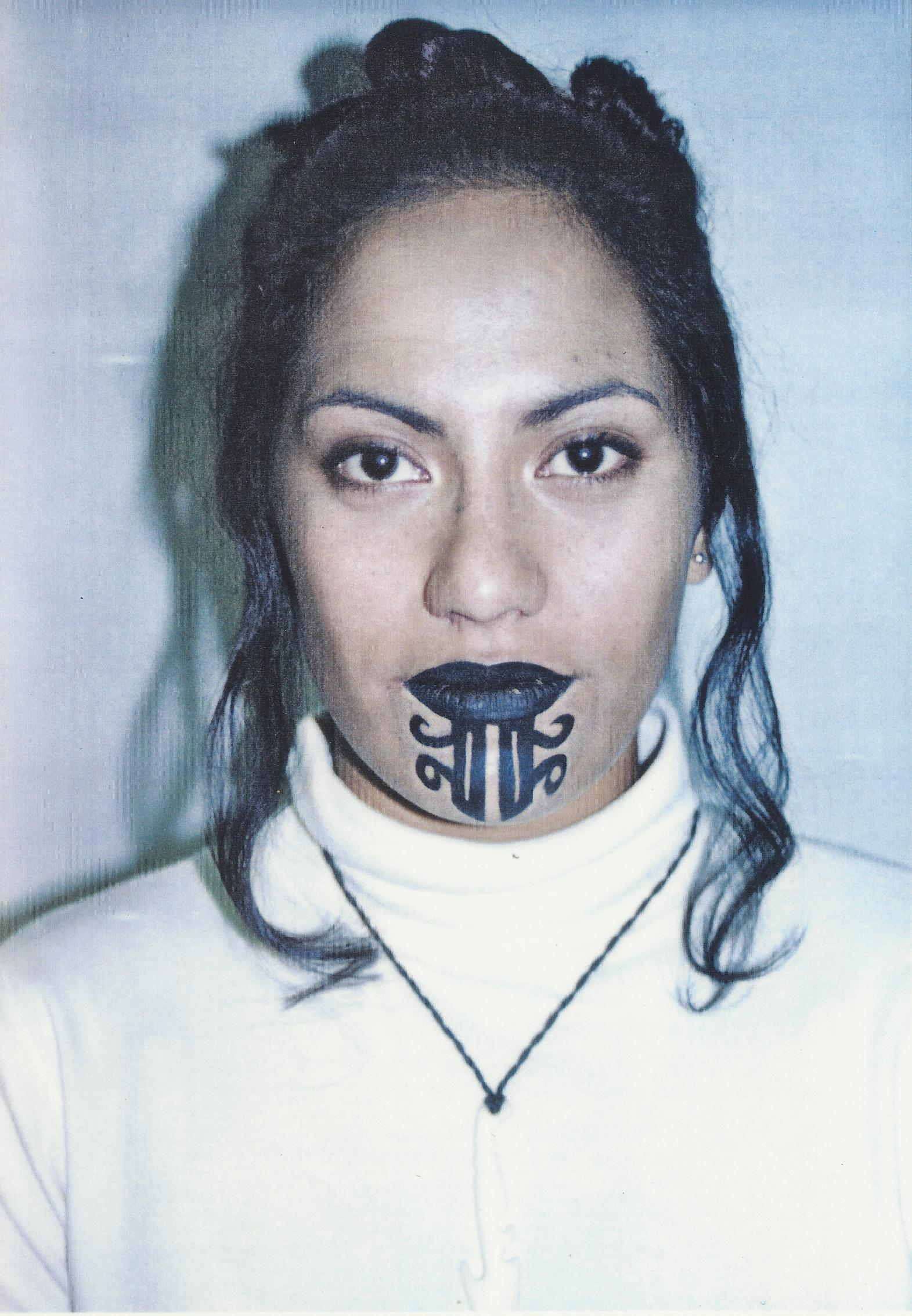 Female Ta Moko On Lips And Chin: Freelance Beauty.Hairstylist